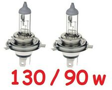 1 pr H4 Globes Bulbs 90/130W 12v 90w Low beam and 130w High Beam 1 year warranty