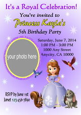 SOFIA THE FIRST CUSTOM PHOTO BIRTHDAY PARTY INVITATION & FREE THANK YOU CARD