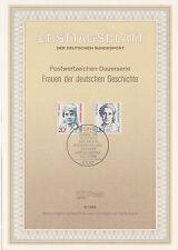 TIMBRE FDC ALLEMAGNE  BERLIN  OBL ERSTTAGSBLATT CILLY AUSSEM / LISE MEITNER 1988