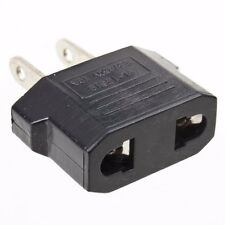 EU to US AC POWER PLUG ADAPTER Adaptor TRAVEL CONVERTER Adapters Black