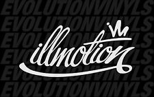 Illmotion ill sticker decal JDM vinyl euro drift racing illest fatlace stance