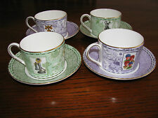 4 Sets of Wedgwood Millennium Coffe/Tea Cups and Saucers.