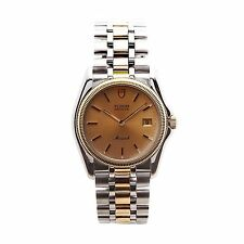 TUDOR MONARCH 15633 MENS WATCH TWO-TONE 18K YELLOW GOLD & STAINLESS STEEL QUARTZ