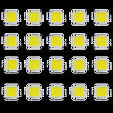 20Pcs DC 9-12V 10W Bright White 800-900LM SMD LED Lamp Bead Bulb Chip