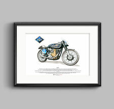 AJS 7R ART POSTER A3 size