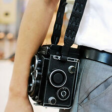 Italian Leather Camera Strap Classic (Black) for Rolleiflex i