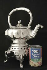 VINTAGE MELON PATTERN SILVER PLATE TILTING TEA POT TIPPING TEA POT COFFEE POT
