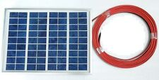 New 5w PV Solar Panel c/w 4m cable  for 12v Battery System Charging top up CE UK