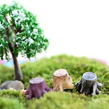 FD2372 Tree Stump Miniature Dollhouse Ornament Flower Pot Aquarium Craft DIY A