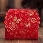 2016 Red Gilding Flower Wedding Party Favours Sweets Boxes Bags Table Decoration
