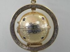 Yellow Gold Orb/Ball Locket w/ Genuine Gemstones! Estate Purchase 14 KT Vintage!