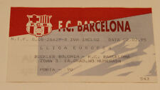 OLD TICKET Basketball * Liga Europa * FC Barcelona Spain Buckler Bologna Italy
