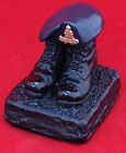 Royal Artillery boots and beret