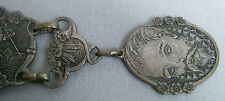ANTIQUE POCKET WATCH CHAIN--DON QUIXOTE DE LA MANCHA WITH SANCHO PANZA