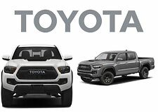 TRD PRO Grille Cement Gray Vinyl Decal Inserts For 2016-2017 Toyota Tacoma New