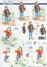 3D Bogen Motivbogen Etappenbogen Grußkarte Scrapbooking Mädchen (253)