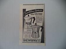 advertising Pubblicità 1958 CAFFETTIERA NAPOLETANA ESPRESSO