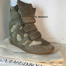 ISABEL MARANT BEKKET GRIS grey WEDGE HIGH TOP SNEAKERS boot shoe 40