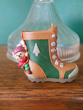 "1995 Hallmark Keepsake Ornament ""Takin' a Hike"" Mouse and Hiking Boot Gift"