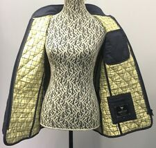 JOHN PARTRIDGE Staffordshire England Handmade Navy Blue Quilted Jacket Lined M