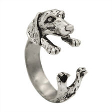 Realistic Dachshund Dog Puppy Animal Wrap Ring Handmade Sausage Dog Ring