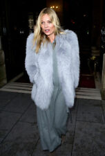PRADA PALE BLUE FOX FUR COAT IT 38 UK 6