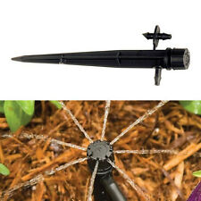 10×Micro Bubbler Drip Irrigation Adjustable Emitters Stake Water Drip System