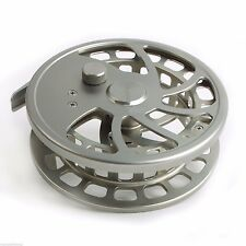 Sliver Color Cnc Machine Cut Aluminum Center Pin Reels Float Fishing Reel top D6