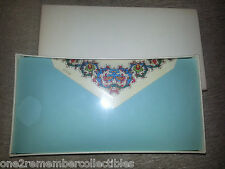 Papaer Factory 24 STATIONARY SHEETS & ENVELOPES Vintage Flowers Floral ITALY New