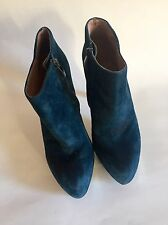 Vince Camuto Platform Navy Blue Suede Ankle Booties Womens Size 9 B/39