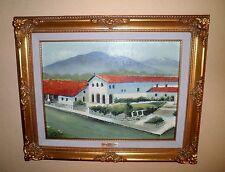 Gorgeous California Plein Air Impressionism Mission San Luis Obispo Oil Painting