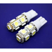 2 X 9 SMD 5050 LED WHITE T10 SOCKET ALL TYPE BIKE CAR PARKING INDICATOR LIGHT