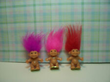 "THREE MINI / MINIATURE TROLLS  - 1"" Russ Troll Dolls - NEW"
