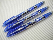 (3 Pens) PILOT  FRIXION erasable 0.5mm roller ball pen Blue (Japan)
