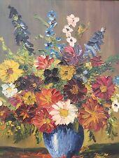 Hübsches Ölgemälde Blumenbild Blumen Stillleben signiert A. Grischy ..
