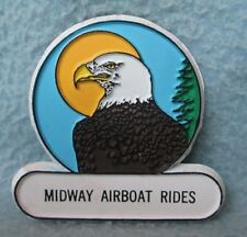 Midway Airboat Rides, Rubber Magnet Souvenir, Travel, Refrigerator