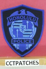 HONOLULU, HAWAII POLICE BLUE SUBDUED SHOULDER PATCH HI