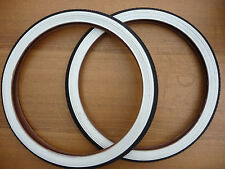 20x1.75 Pair White Wall Retro Bike Cycle Tyres Old school BMX NEW Street