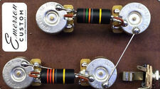 Prewired Kit LP Long Shaft Bumblebee Caps Emerson Custom fits Les Paul ®