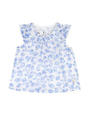 BABY DIOR BLUE CHINA FLORAL BLOUSE 3 MONTHS