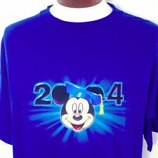 Mickey Mouse T Shirt XL Mens Class of 2004 Graduate Disney Store Blue Cotton