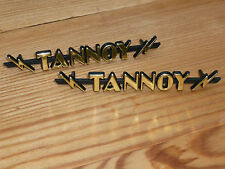 Pair size 2 TANNOY lightning badges badge logo emblem 95% perfect GRADE B