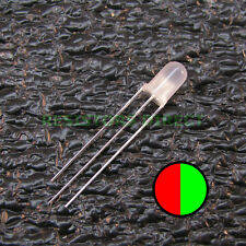 50pcs Red/Green BiColor Dual LED Diffused Lens 5mm Common Anode Round 50x V02