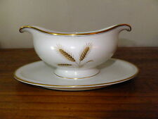 Rosenthal Winifred Gravy Boat with Attached Underplate Wheat Pattern