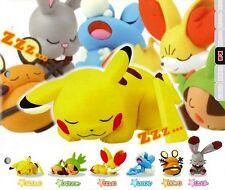 pokemon pikachu sleeping set of 6pcs pvc figure toy anime figures collection new