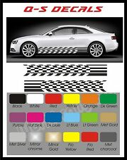 Car Side Stripe Cheqs Decals Graphics Stickers BG627 Any Colour both sides