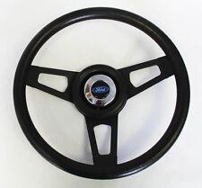 "Bronco F100 F150 F250 F350 Grant Black Steering Wheel with Black Spokes 13 3/4"""
