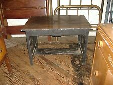 Mission Oak Library Table Computer Desk Arts Crafts Vintage Antique