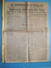 09/10/1911 IL GIORNALE D'ITALIA Cinquantamila italiani espulsi dalla Turchia 229