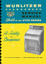 MANUALE COMPLETO (manual) JUKEBOX WURLITZER 2700 - 2710  (juke box) (1963)